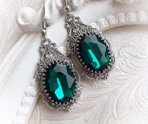 gothic jewelry, dangling earrings, and gothic jewellery image