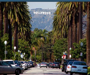 hollywood, losangeles, and usa image