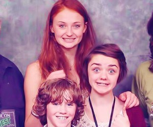 sophie turner, maisie williams, and art parkinson image