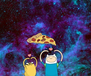 pizza, adventure time, and finn image