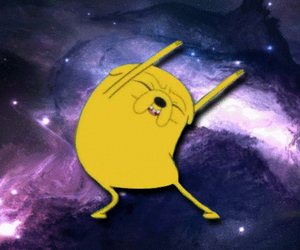 adventure time, galaxy, and JAKe image