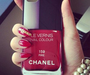 chanel, girly, and red image