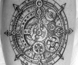 beautiful, black, and compass image