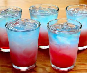 drink, red, and blue image