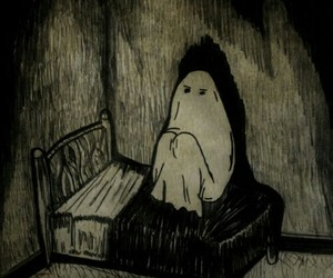 dark, ghost, and alone image