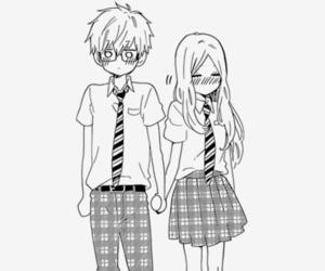 manga, hibi chouchou, and couple image