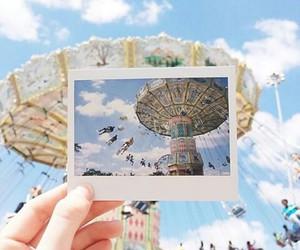 summer, polaroid, and sky image