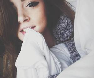 girl, pretty, and bed image