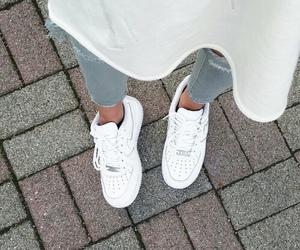 fashion, nike, and white image