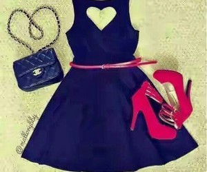 dresses, fashion, and hearts image