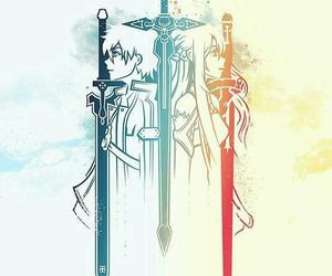 sword art online, kirito, and asuna image