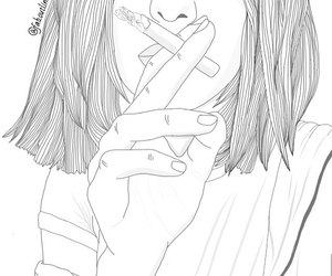 cigarettes, grunge, and short hair image
