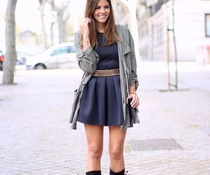 dress, boots, and street fashion image