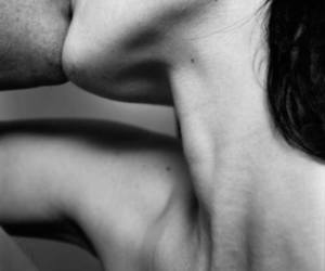 black and white, couple, and horny image