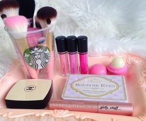 makeup, girly, and pink image