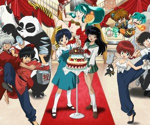 anime, ranma, and inuyasha image