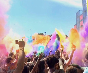 colors, festival, and holi image
