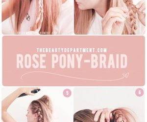 braid, hair style, and hairstyle image