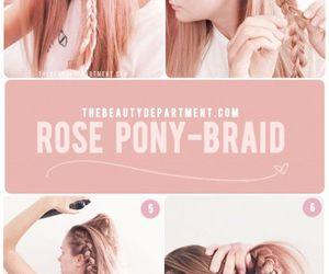 braid, diy, and lovely locks image