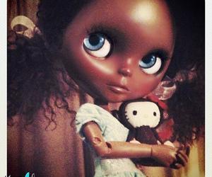 black, blythe, and curly hair image