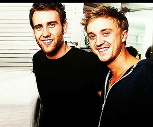 tom felton, harry potter, and Matthew Lewis image