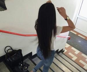 girl, hair, and long hair image