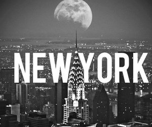 new york, black, and white image