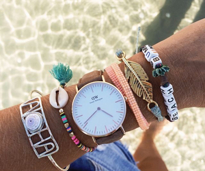 summer, watch, and beach image