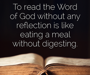 bible, eat, and reflection image