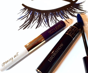 dior, mascara, and art image