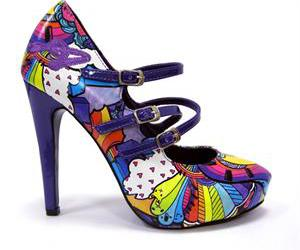 cute heels, colourful shoes, and rainbow heels image
