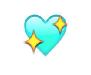 heart, mint green, and emoji image