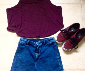 necklace, shorts, and top image