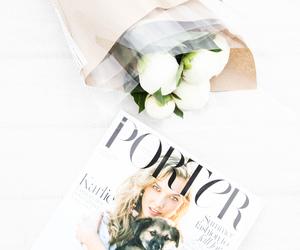 fashion, flowers, and magazine image