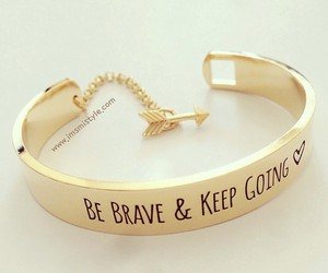 gold, bracelet, and brave image