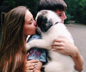couple, dog, and girl image