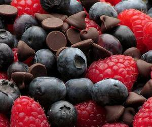 chocolate, food, and fruit image