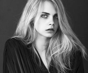 black and white, girl, and cara delevingne image