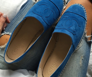 chanel, blue, and shoes image