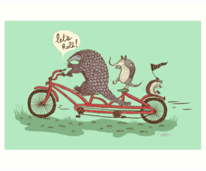 art, funny, and bicycle image