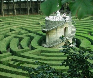 green, labyrinth, and nature image