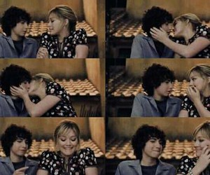 kiss, love, and Hilary Duff image