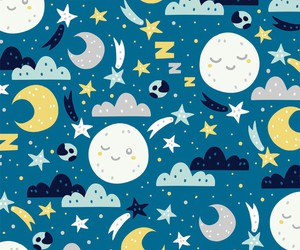 moon, wallpaper, and cute image