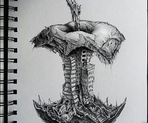 apple, drawing, and art image