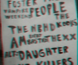 arctic monkeys, the xx, and the 1975 image