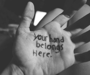 black and white, hands, and you image