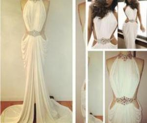 long prom dress and white prom dress image
