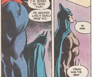 batman, superman, and jason todd image