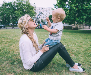 baby, blonde, and boy image