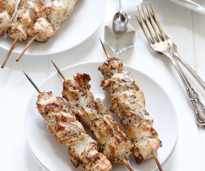 Chicken, herbs, and kebab image